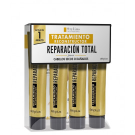 Tratamiento Reconstructor Reparación Total, Deliplus Stylius Linea Profesional, 4*15 ml