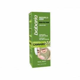 Green Face Mask With Cannabis Seed Oil, BABARIA